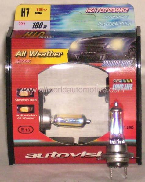 Autovision All Weather Bulbs H7 12V 100W
