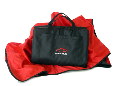 Red Chevy Motorsports Weatherproof Travel Blanket