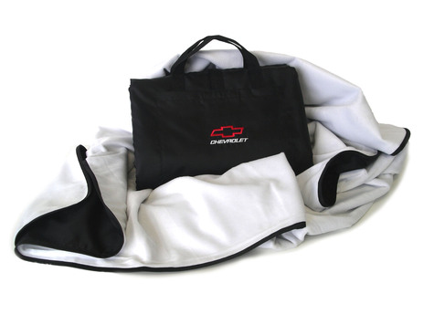 White Chevy Motorsports Weatherproof Travel Blanket