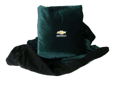 Forest Green Chevrolet fleece pillow blanket