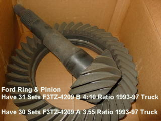 Ford Ring & Pinion,3.55 Ratio,10.25 Ring Gear,O.E.M