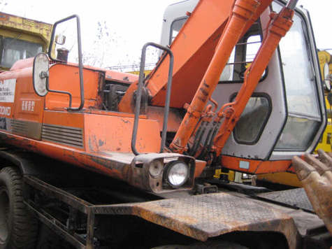 USED HITACHI EX100WDS,160WDS WHEEL EXCAVATOR FOR SALE