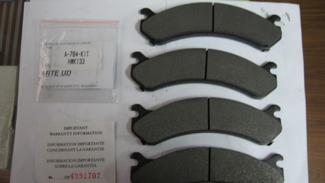 brake pads for Chevrolet
