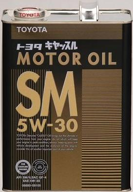 Toyota Genuine Motor Oil SM 5W-30, 4L