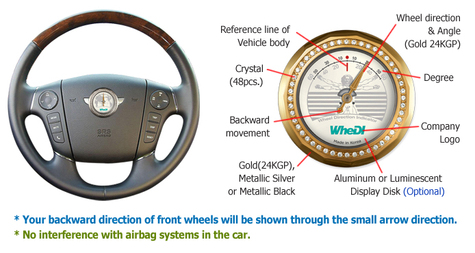 Innovative Parking Aid System - Wheel Direction Indicator (WheDI)
