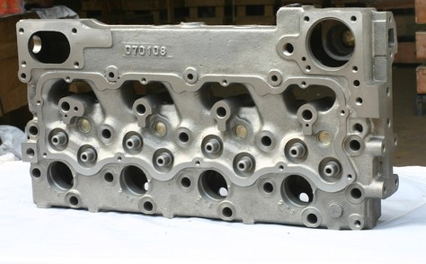 CAT engine head and engine block