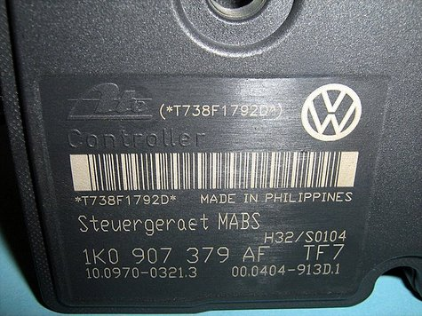 vw air bag control unit