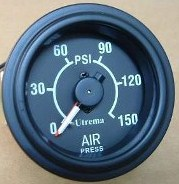 Utrema Auto Mechanical Dual Needle Air Pressure Gauge 2-1/16""