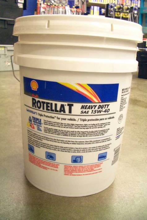 Shell ROTELLA T SAE 15W- 40 in Pail container