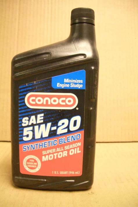 Conoco 5w20 Premium Synthetic Blend Motor Oil In Quarts