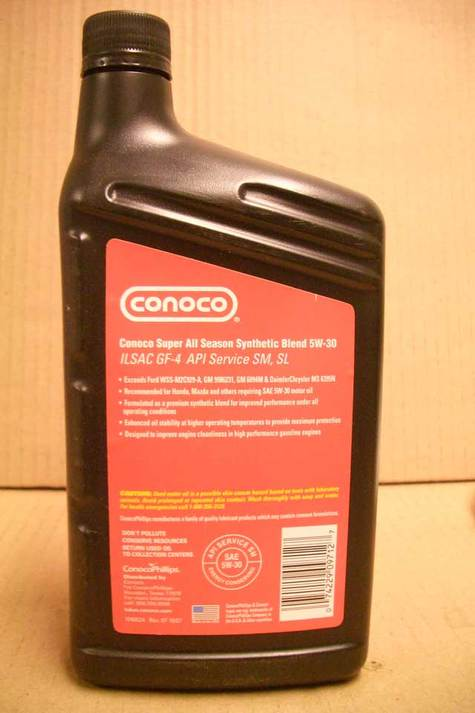 CONOCO 5W30 Premium Synthetic Blend Motor Oil in Quarts