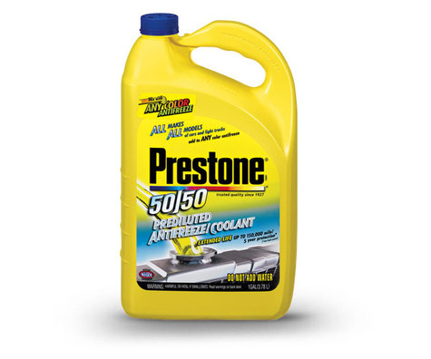 Prestone antifreeze coolant green cooler 50/50 Strength in Gallons