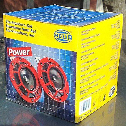 Hella Red Grill Supertone Horn Set (B133)