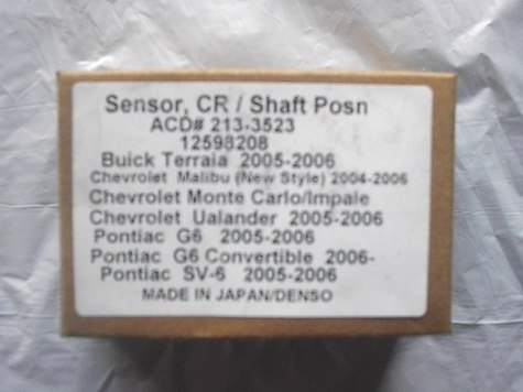 SENSOR, CR/SHAFT PON