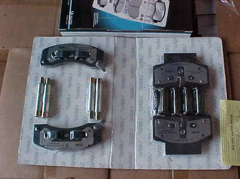 Semi-Metallic brake pads made in Canada complete kits as you see in picture