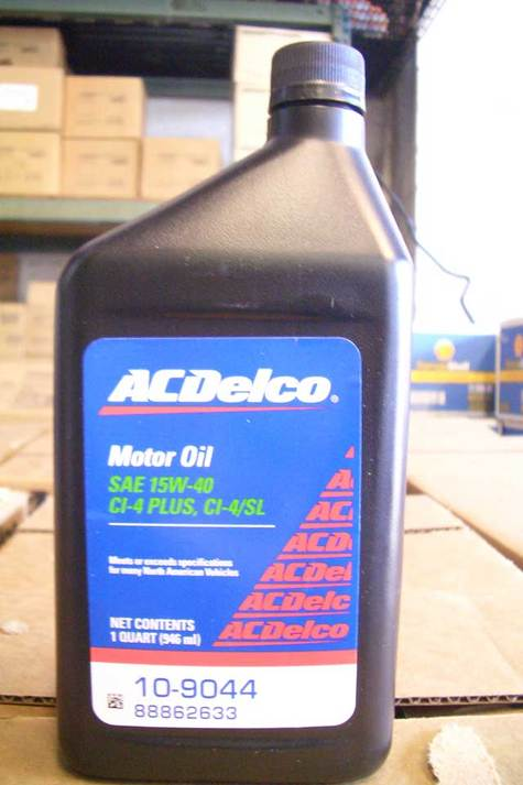 ACDelco Diesel Motor Oil 15w40 part # 10-9043 in quarts
