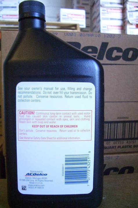 ACDelco ATF (Automatic Transmission Fluid) part # 10-9047