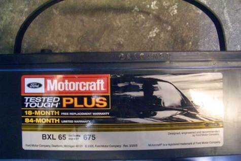 Motorcraft Battery BXS-65 No Core Need Ford Crown Victoria