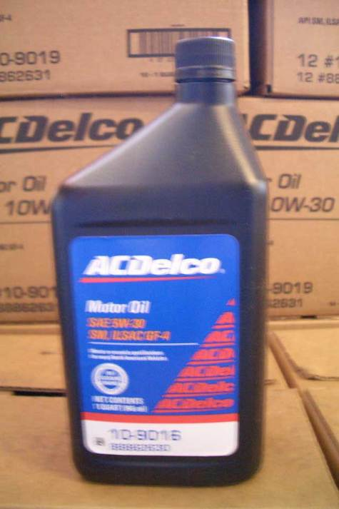 ACDelco Motor Oil 5w30 part # 10-9016 in quarts