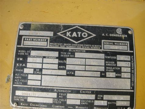 KATO Generator End - Item #7312