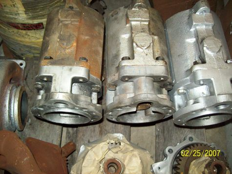 3 HOLSET COMPRESSORS 2 DRIVE GEARS + 2 WATER PUMPS