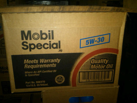 Mobil Special SAE 5w30 Motor Oil in quarts
