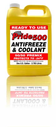 Pride 500 Antifreeze 50/50 Premix in Gallons RED Color for European Applica