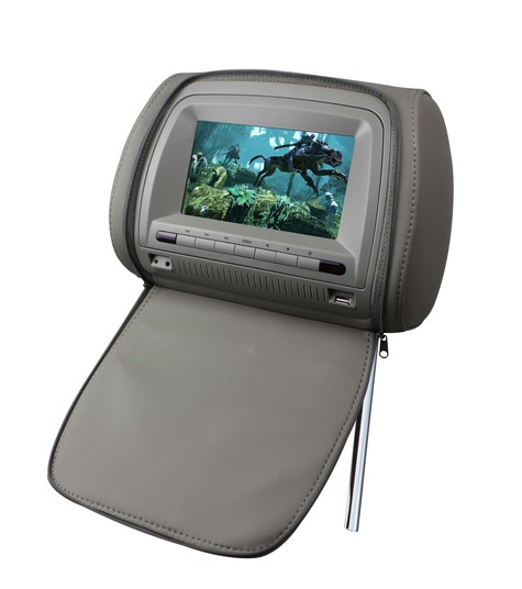7-Inch Headrest Car DVD of Sony Lens, 16:9 Aspect Ratio, FM Transmitter and