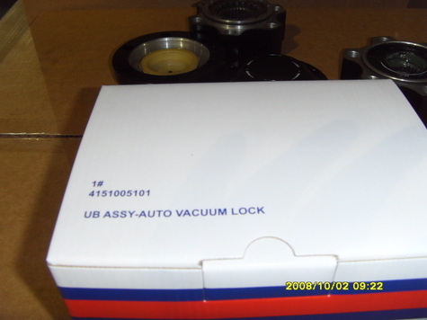 HUB A-AUTO VAC. LOCKING