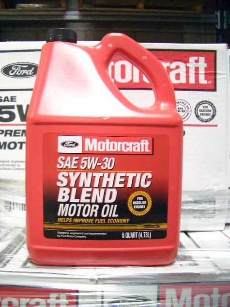 Motorcraft xo 5w30 5qsp synthetic blend motor oil in jag for Motorcraft synthetic blend motor oil