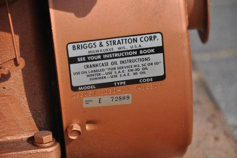 Briggs & Stratton engine + gear box