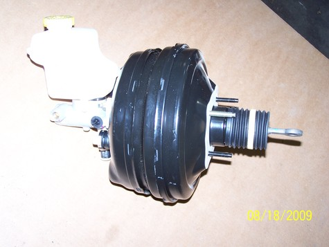 Dodge complete master brake and booster assembly