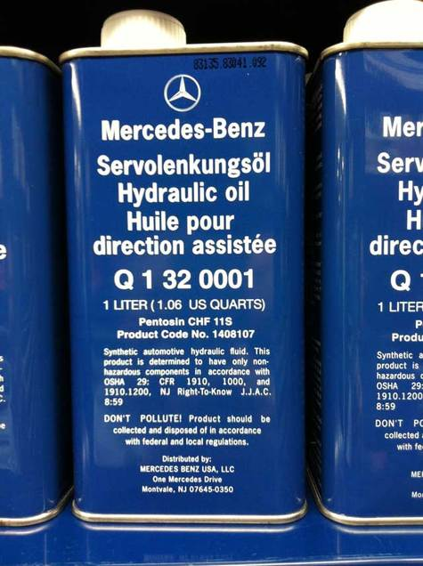 Mercedes benz hydraulic oil part q1320001 for Mercedes benz engine oil recommendations