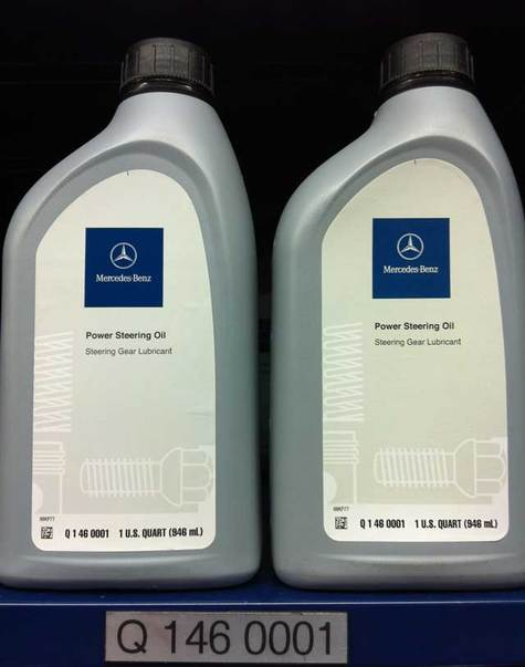 Mercedes benz power steering oil part q1460001 for Mercedes benz recommended oil