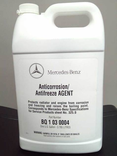 mercedes benz antifreeze agent part bq 1 03 0004 On coolant mercedes benz