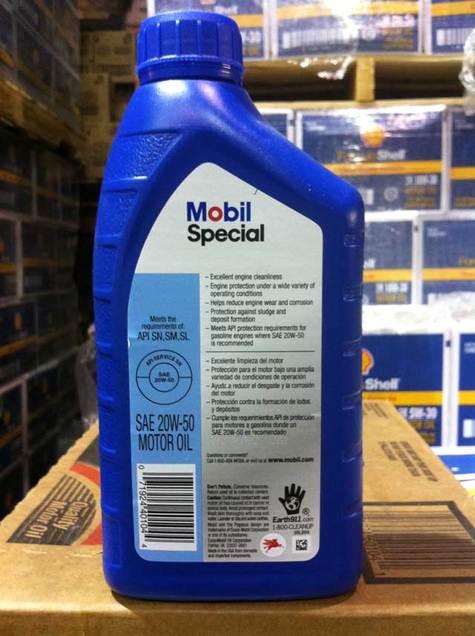 Mobil Special 20w50 Motor Oil Part 98ku95