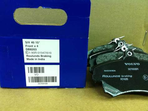 VOLVO FRONT BRAKE PADS part # 30769199