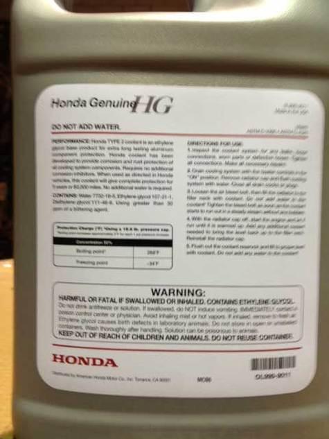 Honda ol999 9011