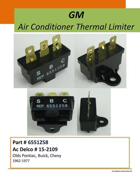 GM A/C Thermal Limiter #258