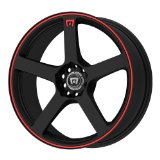 Motegi Racing MR116 Matte Black Finish Wheel with Red Accents