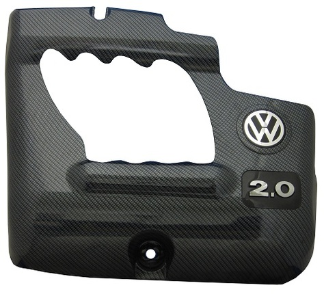 fiber carbon finish - VW engine cover