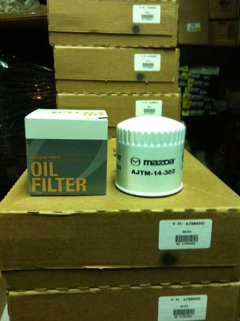 Mazda genuine Oil Filter part # AJTM-14-302
