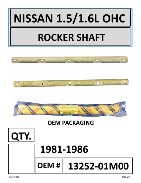 NISSAN ROCKER SHAFT