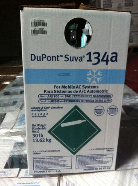 DuPont Freon R134A 30lb Cylinder (13.6KG) Made in USA.