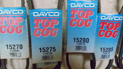 Serpentine belt timing belt Bondo Dayco Gates Good year