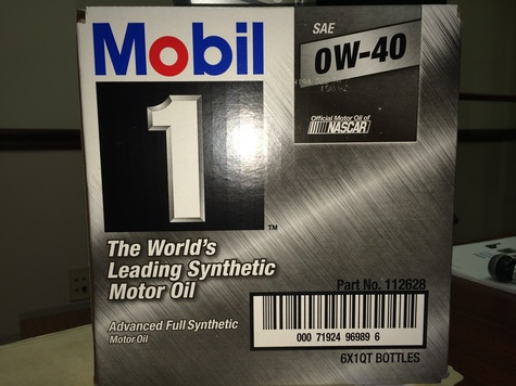 112628 Mobil 1 Full Synthetic 0W40 6/1 quarts.