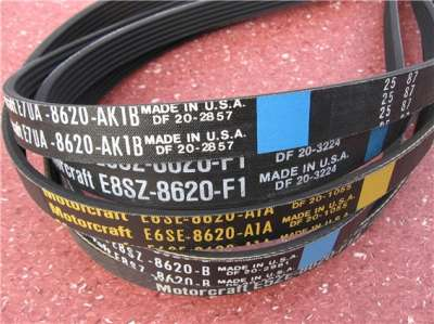 Surplus Stock of MOTORCRAFT Serpentine (PK) Belts)