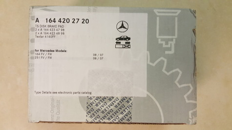 GENUINE Mercedes-Benz Brake Pads