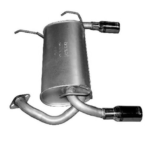 Y pipe muffler resonator exhaust kit