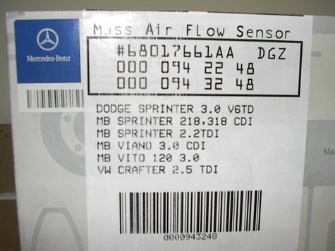 OE BOXED MASS AIR FLOW SENSORS